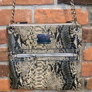 Nicole Miller Snakeskin Print Crossbody Bag